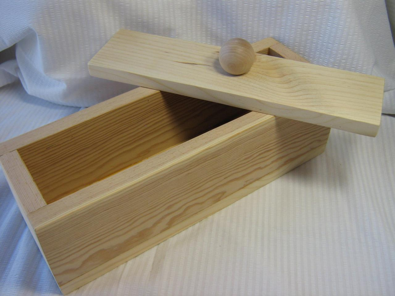 4 Pound Wood Soap Mold With Lid - Handmade in Colorado